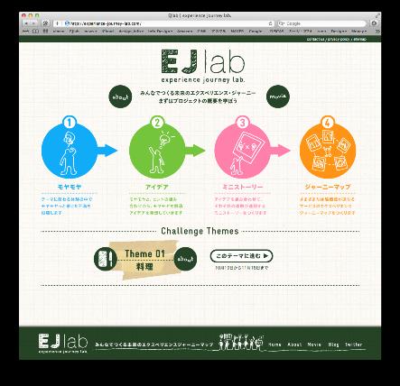 西麻布メンバー・南部さんの関わる『EJ-lab』プロジェクトのWebサイト画面キャプチャ