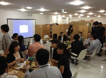 co-lab渋谷アトリエ交流会の風景写真