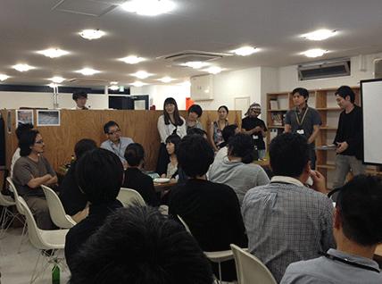 co-lab渋谷アトリエ交流会プレゼンテーション風景写真