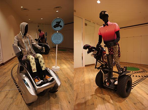 「モビリティの未来」展示の写真