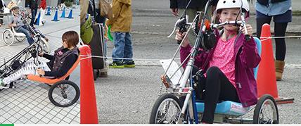 画像:ハンドバイク試乗会