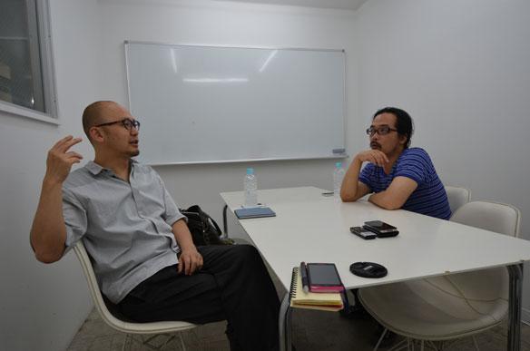 写真:田中陽明(co-lab)と長岡勉(POINT)