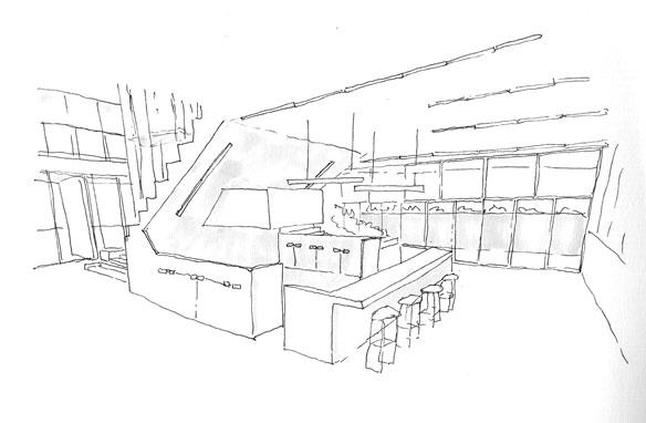 仙台の起業家育成施設―Intilaq東北イノベーターハブ(イメージ03:キッチン)